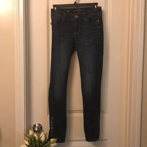White House Black Market Jeans - Whbm vegan leather denim skimmers